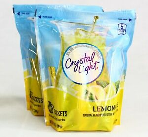Crystal Light Natural Lemonade Drink Mix 16 Pitcher Packets New Free Shipping