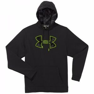 Under Armour Boys Armour Fleece Big Logo Pullover Hoody black size  Youth Small