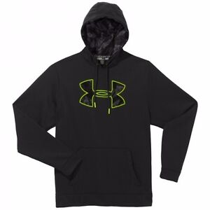 Under Armour Boys Armour Fleece Big Logo Pullover Hoodie hoody Youth Large NWT
