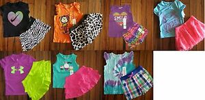 GIRLS 24 Months ~ JUMPING BEANS ~ UNDER ARMOUR ~ NIKE ~ SHORTS  TOPS $185 ~ 14pc