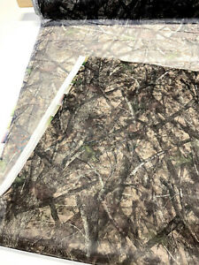Brown Green Camouflage Bug Mesh 66quot; Wide Camo Fabric Hunting Mosquito Net Blind