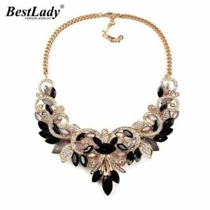 Spring Crystal Women Statement Necklace Pendant Vintage Turkish Jewelry Necklace