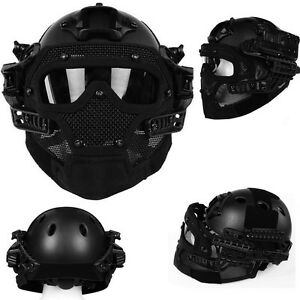 Airsoft Paintball Tactical Fast Helmet Mask Goggles G4 System Protective Gear U9