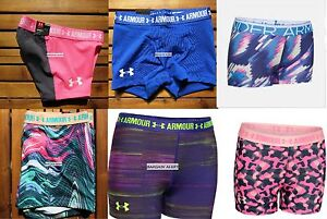 UNDER ARMOUR 6 pairs ~ SIZE SMALL ~ FITTED SHORTS GYMNASTICS DANCE ~ NEW $150