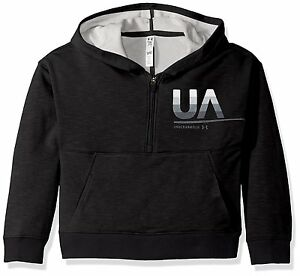 Under Armour Girls French Terry Hoody Youth Medium Black 001