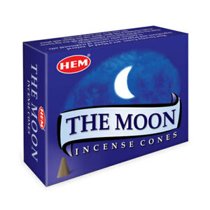 HEM The Moon Incense One Box of 10 Cones NEW Free Shipping