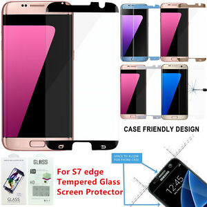 100 Lot Case Friendly Tempered Glass Screen Protector Samsung Galaxy S7 Edge