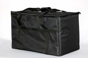 Resturant linen Insulated Nylon Food Delivery Bag  23in x 13in x 15in Black