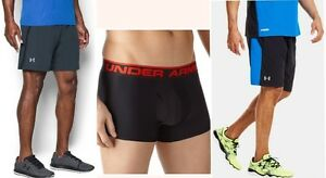 lot of 3 UNDER ARMOUR athletic shorts running + liner baselayer boxer mens large