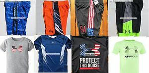 UNDER ARMOUR BOYS YOUTH SIZE 6~ SHORTS ~ TOPS ~ NWT ~ 8PC ~ $174