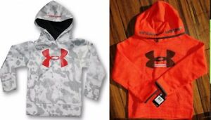 UNDER ARMOUR BOYS YOUTH SIZE 5 ~ 2 HOODIE SWEATSHIRTS ~ NEW ~