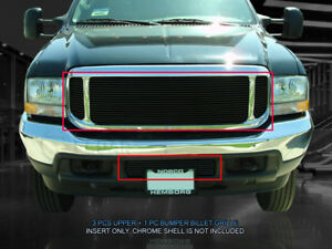 Black Billet Grille Combo For 2000-2004 Ford Excursion F-250/F-350/F-450/F-550
