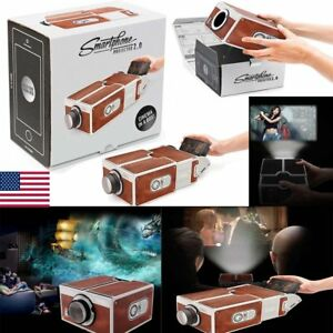 V2.0 Smartphone Projector DIY Mobile Phone Home Theater Cinema Video For iPhone