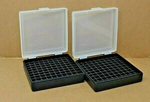 9 mm  380 - (2) x 100 round ammo case  box (CLEAR COLOR) Berrys mfg. 9 mm NEW