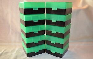 300 BLACK OUT (10) 100 Round (ZOMBIE GREEN ) Plastic Ammo Rifle Box Berry Mfg