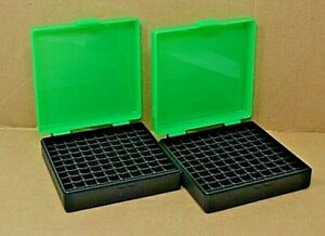 (2) 9 mm  380 - 100 round ammo case  box (ZOMBIE COLOR) Berrys mfg. 9 mm NEW