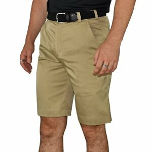 New Nike Golf Flat Front Tech Golf Shorts - Khaki