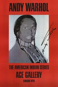 Andy Warhol-American Indian (Red)-1977 Offset Lithograph-SIGNED