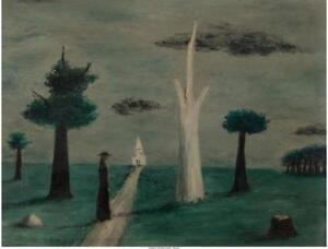 GERTRUDE ABERCROMBIE (AMERICAN 1908-1977) UNTITLED 1942 OIL ON MA... Lot 65907