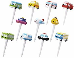 Torune Lunch Bento Accessory 3D Food Pick Vehicle Airplane Ship 11pcs From JAPAN