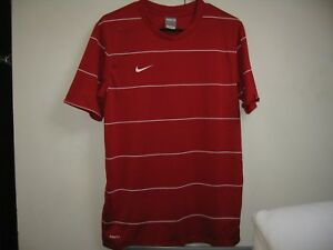 Used Childs Nike Fit Dry T-Shirt Size XL Red with White Stripe