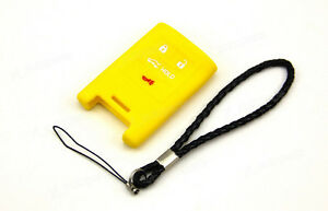 Yellow Silicone Case Cover Skin For Cadillac Remote Smart Key 4 Buttons CAD4NYE $4.50