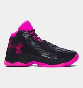 UNDER ARMOUR UA GS Curry 2.5 Basketball Shoes Kids Boys Girls BlackPink 7Y