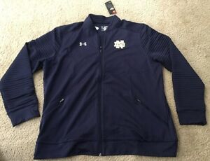 *MAKE OFFERS* NWT LOOSE UNDER ARMOUR NOTRE DAME FULL ZIP UP 2XL MSRP: $89.99