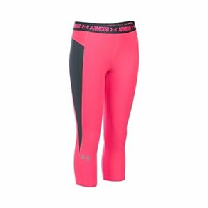 $40 Kids Under Armour Girls Coolswitch Capri Harmony Red XS (7 Big Kids)