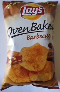 NEW Lay#x27;s Oven Baked Barbecue Flavored Potato Chips Snacks FREE WORLD SHIPPING