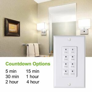 BN LINK Timer Century Countdown Digital In wall Timer 5 15 30 60mins 2 4 hours $14.99