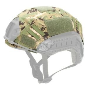 Woodland Digital Tactical Combat Military Helmet Cover for OPS-CORE Fast PJ MH