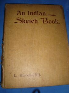 Old Vintage Painter L. Raven Hill Indian Sketch Book from England 1910 $75.00