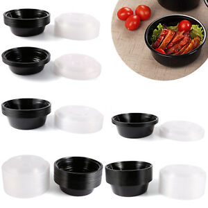 Plastic Round Food Grade Disposable Containers Take Out Microwave