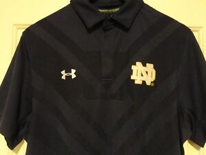 Brand new! Mens UNDER ARMOUR HeatGear Official ON-FIELD Loose Polo NOTRE DAME