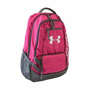 New Under Armour Hustle II Backpack Pink Bag Laptop Computer School No Tax Xmas
