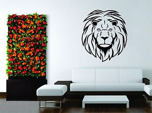 Wall Mural Vinyl Decal Sticker Hunter Hunting Lion Animal Tribal Wild Design