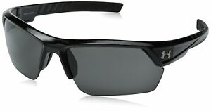 Under Armour Igniter 2.0 Shiny Black Frame with Black Rubber and Gray Lens