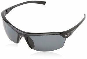 Under Armour Zone 2.0 Shiny Black Frame with Black Rubber and Storm ANSI Gray
