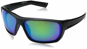 Under Armour Men's Ua Launch Polarized Round Sunglasses Ansi Satin Black Frame