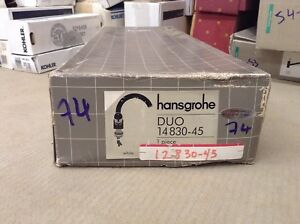 Hansgrohe DUO 2 HANDLE SINGLE HOLE LAV. FAUCET - WHITE 14830-45
