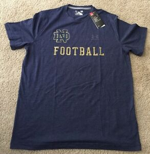 NWT UNDER ARMOUR LOOSE HEATGEAR NOTRE DAME FOOTBALL TEAM ISSUED 2XL T-SHIRT