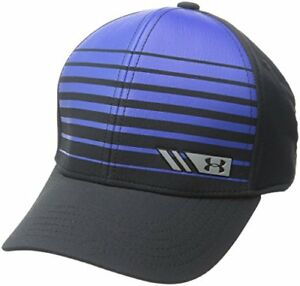 $25 Under Armour Boys' Golf Low Crown Cap BlackUltra Blue SmallMedium