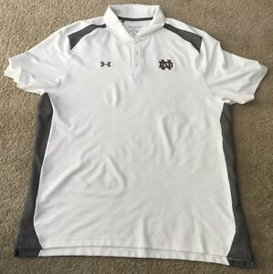 *MAKE OFFERS* USED TEAM ISSUED LOOSE UNDER ARMOUR NOTRE DAME FOOTBALL POLO 2XL
