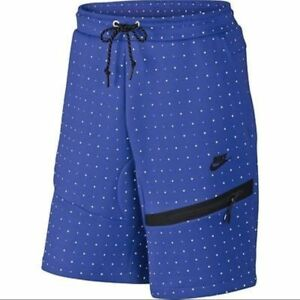 Nike Tech Fleece Polka Dots Shorts Game Royal Men's Size Medium 642964 480 M New