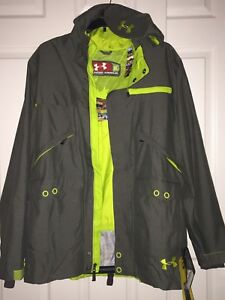 Under Armour Cold Gear Shell Jacket Loose Waterproof XL Rifle Green Snowboarding