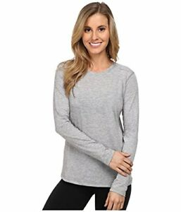 $50 Brooks Women's Distance Long Sleeve Top Heather Oxford T-Shirt MD
