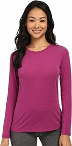 $50 Brooks Women's Distance Long Sleeve Top Heather Currant Shirt 1