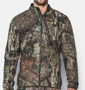 Under Armour Stealth Camo Hunting Fleece Jacket XL and Pants W3630