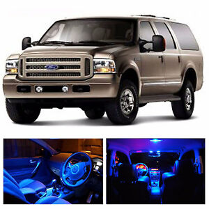 LED Blue Lights Interior Package Kit For Ford Excursion 2000 2005 14 Bulbs $20.94